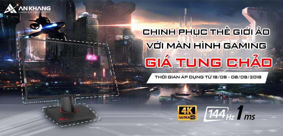 CHINH PHỤC THẾ GIỚI ẢO VỚI MÀN HÌNH GAMING - GIÁ TUNG CHẢO TẠI AN KHANG COMPUTER