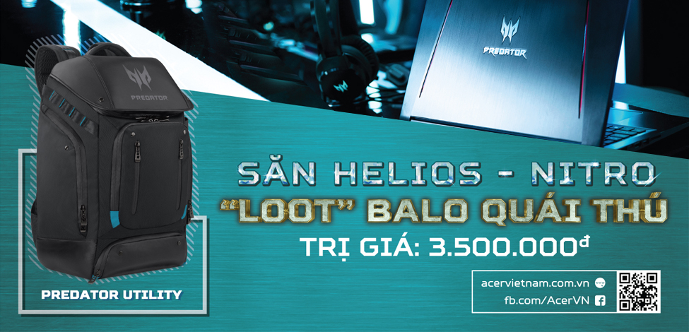 SĂN HELIOS - NITRO 5 - LOOT BALO QUÁI THÚ - TRỊ GIÁ 3.500.000VNĐ