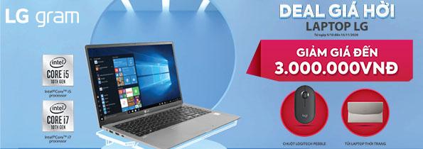 Khuyến mại Laptop LG tháng 10