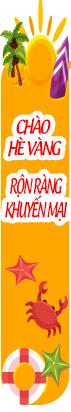 Banner khuyến mại chào hè