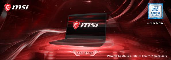 MSI GF63 GEN 9