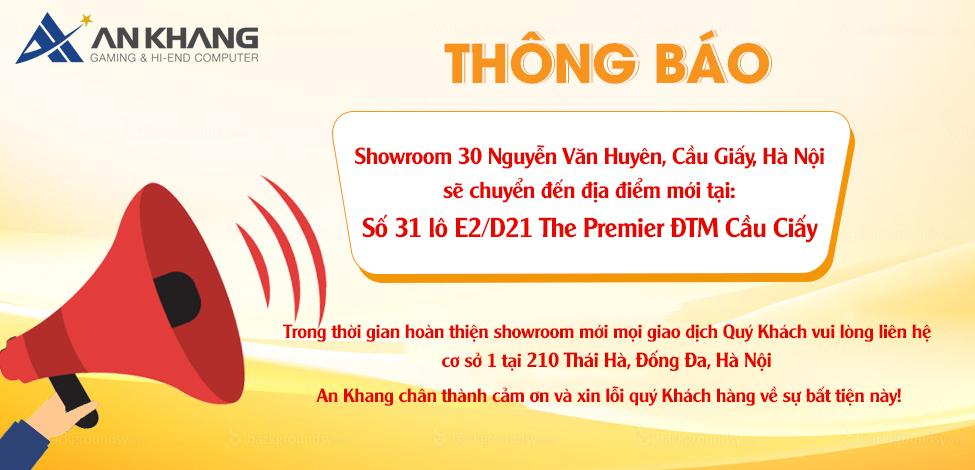 Thông báo chuyển địa điểm showroom 30 Nguyễn Văn Huyên