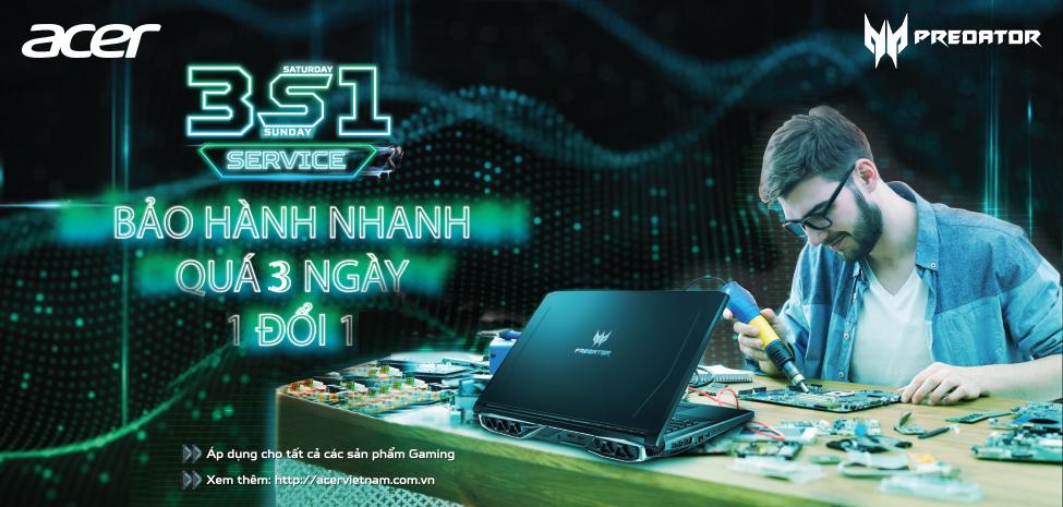 Bảo hành Laptop Acer Gaming 1 đổi 1