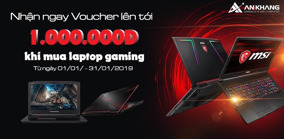 Mua máy Gaming – Nhận ngay Voucher tiền mặt lên đến 1.000.000VNĐ