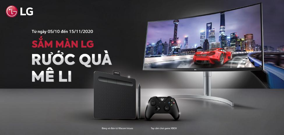 Khuyến mại màn hình LG tháng 10
