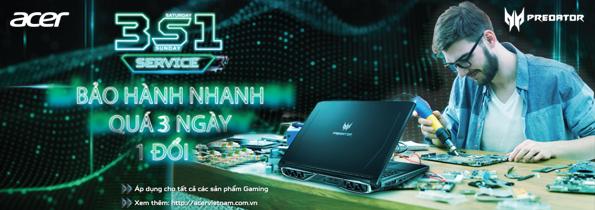 Bảo hành nhanh dành cho dòng Acer Gaming Predator