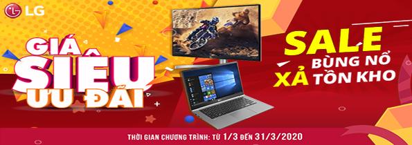 Khuyến mại laptop LG tháng 3
