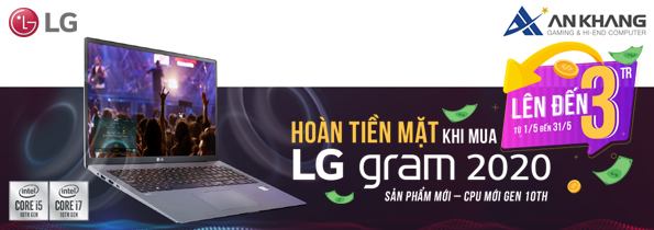 Khuyến mại laptop LG tháng 5