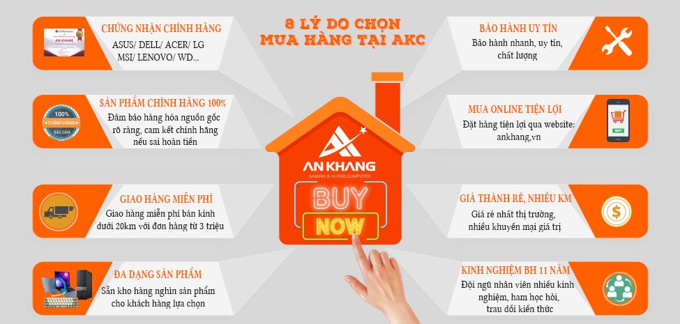 8 lý do nên mua hàng tại An Khang Computer
