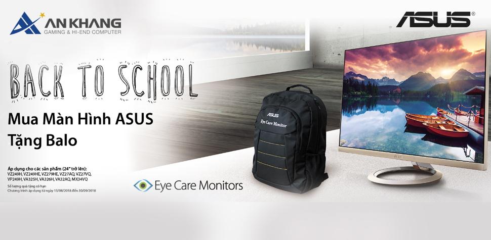 CTKM Back to School: Mua màn hình Asus tặng Balo