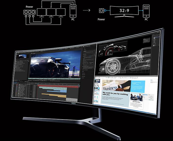 màn hình máy tính, màn hình samsung, màn hình 49 inch, LC49HG90DMEXXV