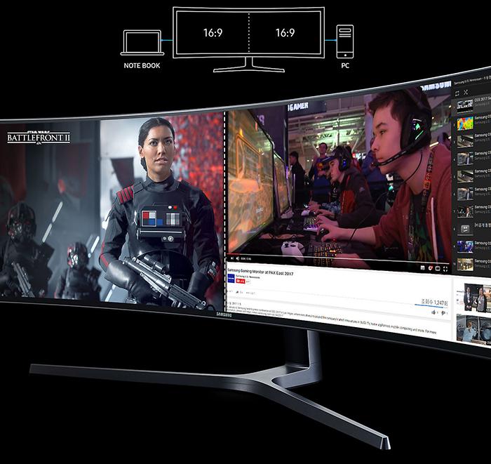 màn hình máy tính, màn hình samsung, màn hình cong, màn hình 49 inch, LC49HG90DMEXXV