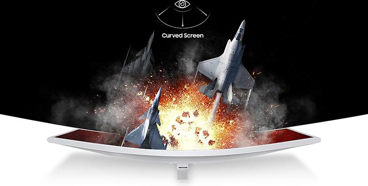 màn hình máy tính, màn hình samsung, màn hình cong, màn hình 32 inch, LC32JG51FDEXXV