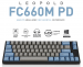 Bàn Phím cơ Leopold FC660M PD Blue Grey Clear Switch